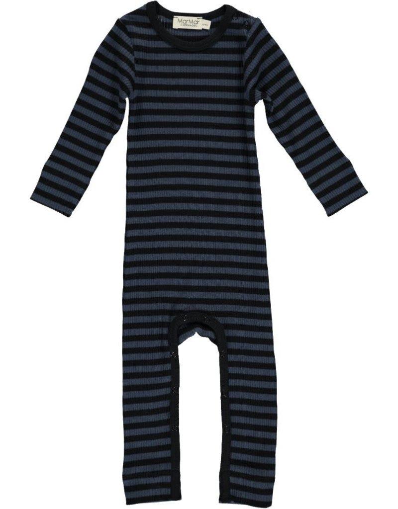 MarMar Copenhagen Modal stripes suit black/blue