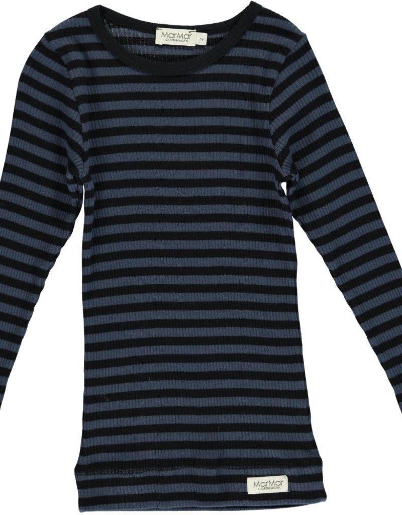 MarMar Copenhagen Plain Tee LS, black/blue