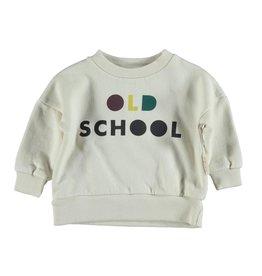 Piupiuchick Sweatshirt Ecru with 'old school' print baby