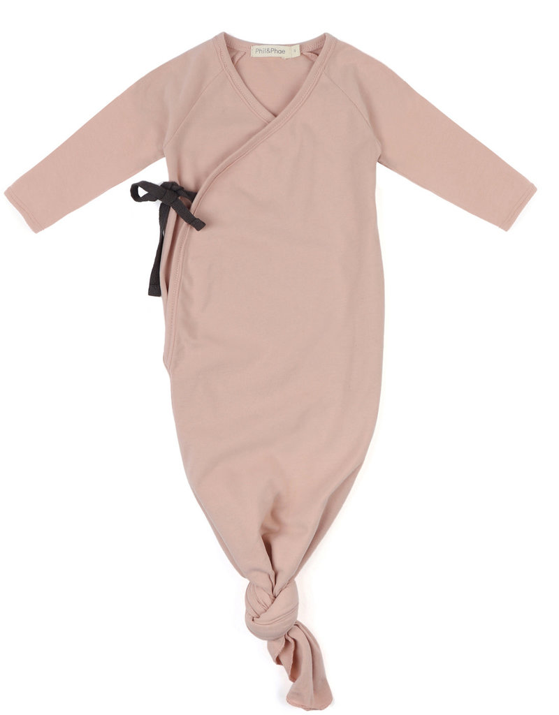Phil & Phae Knotted baby gown blush