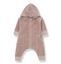 1+ in the family Hood jumpsuit rose