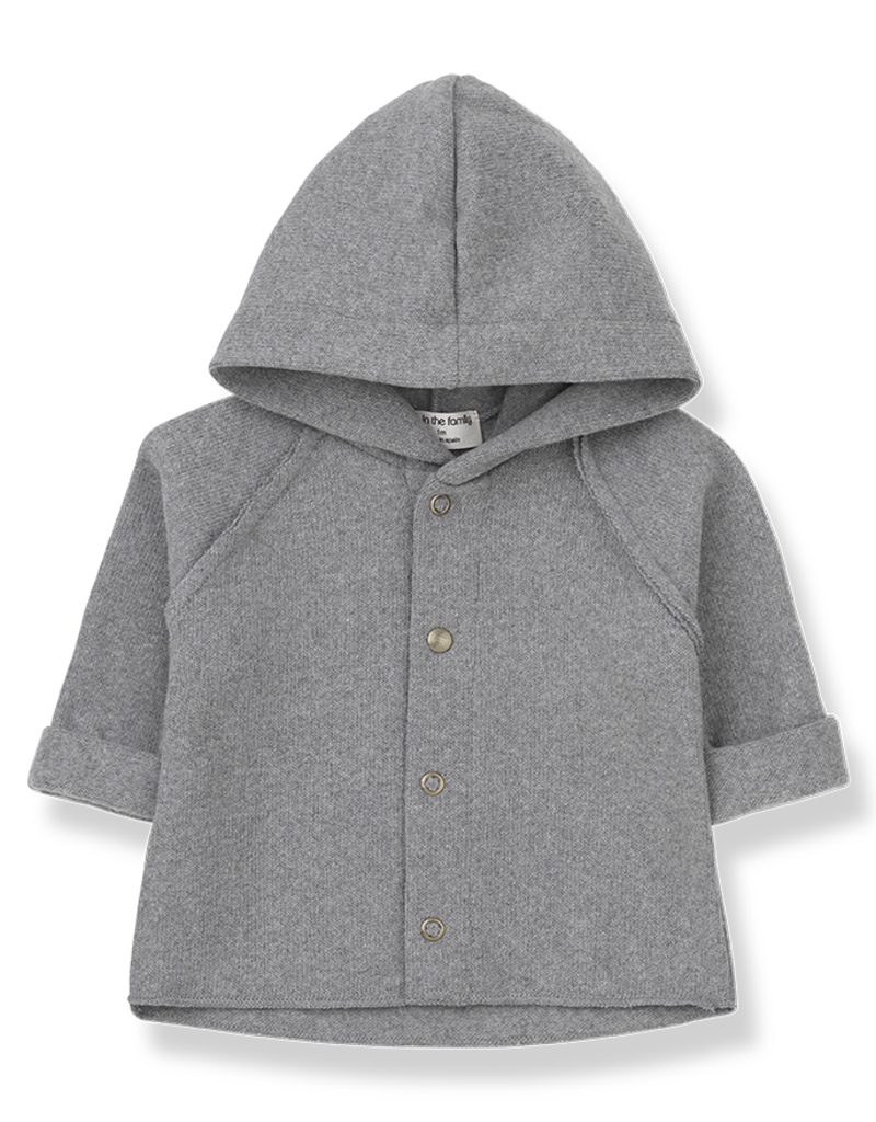 1+ in the family Hood jacket light grey