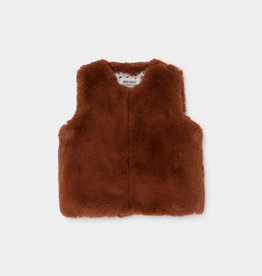 Bobo Choses Brown Faux Fur Vest