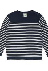 FUB Thin sweater navy/ecru