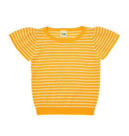 FUB T-shirt Pointelle ecru/yellow