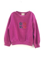 Long Live The Queen Rough terry sweater dahlia
