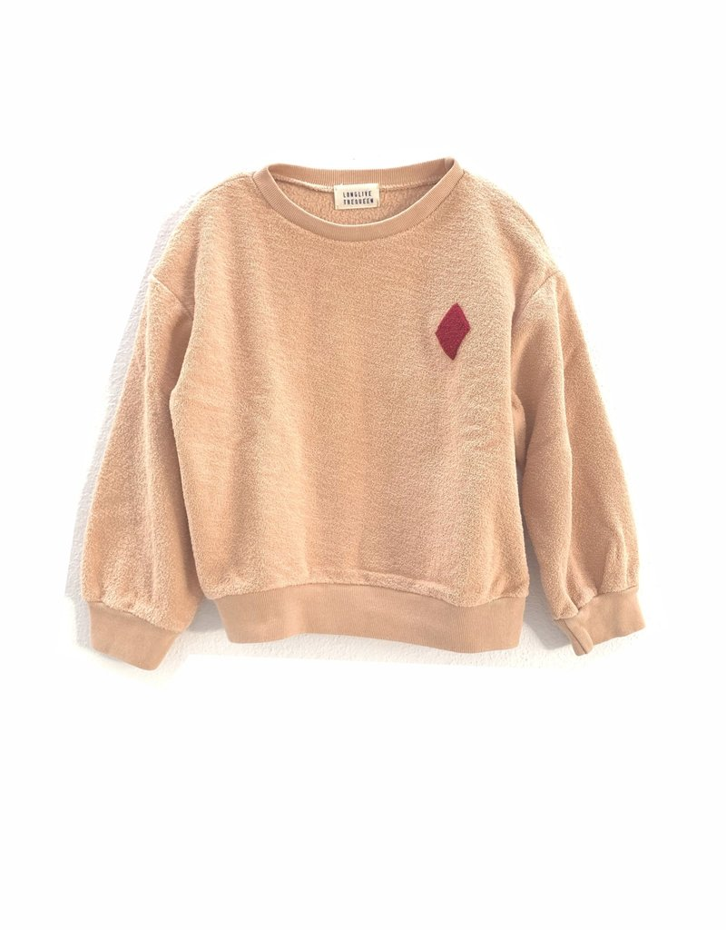 Long Live The Queen Rough terry sweater natural