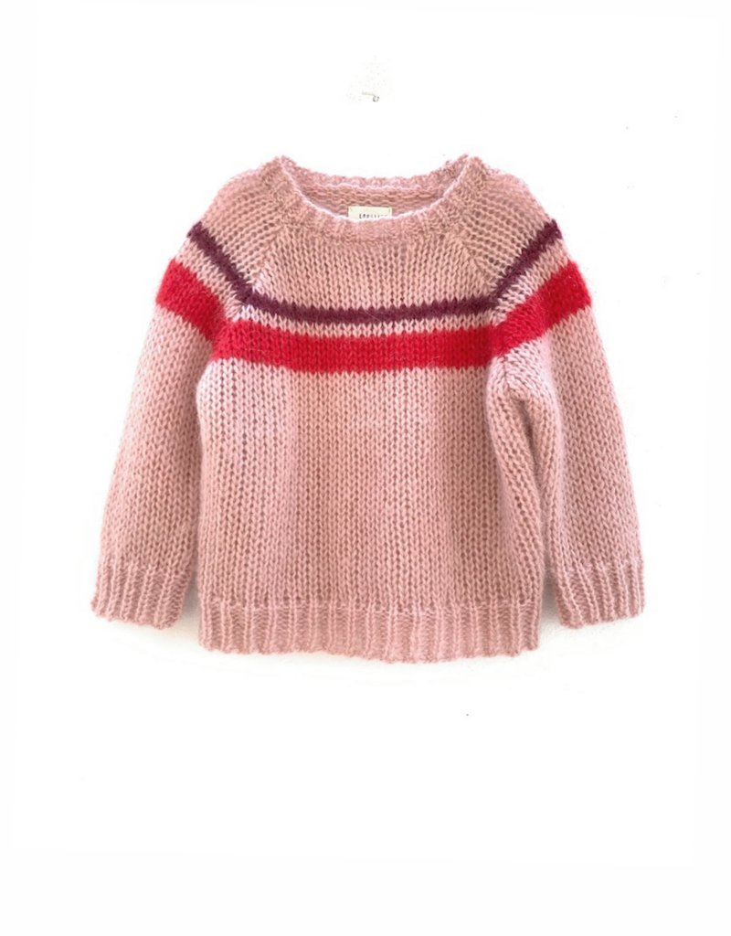 Long Live The Queen Handknit sweater pale pink