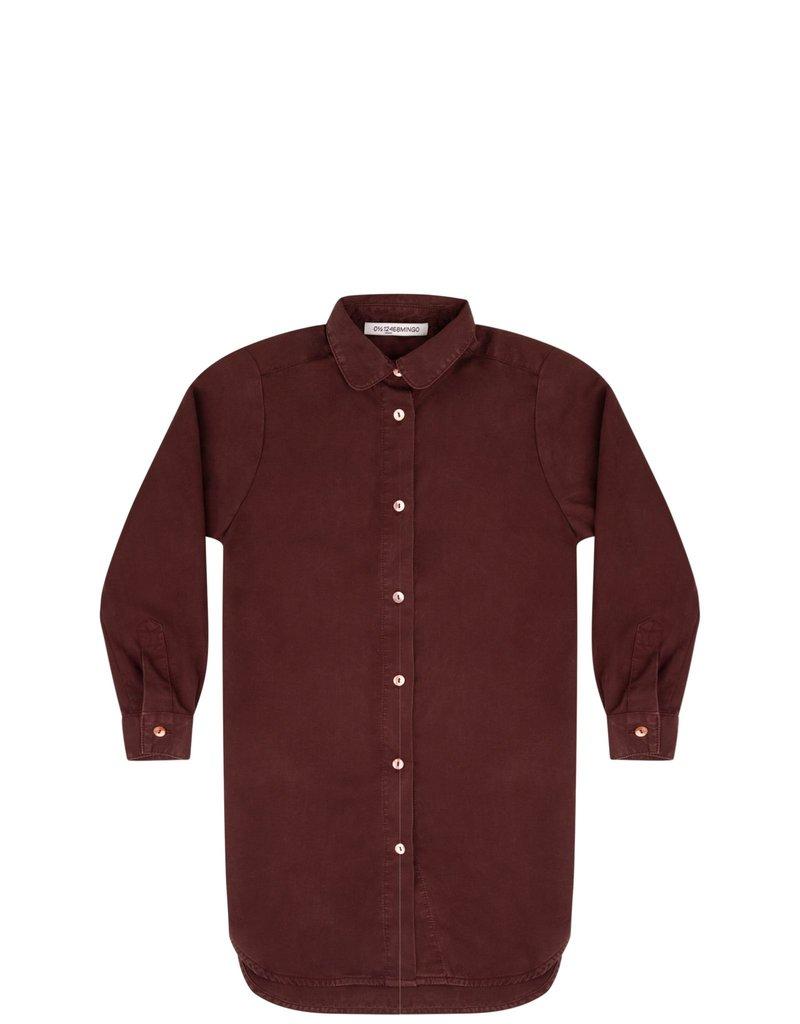 Mingo Shirt dress bitter chocolate