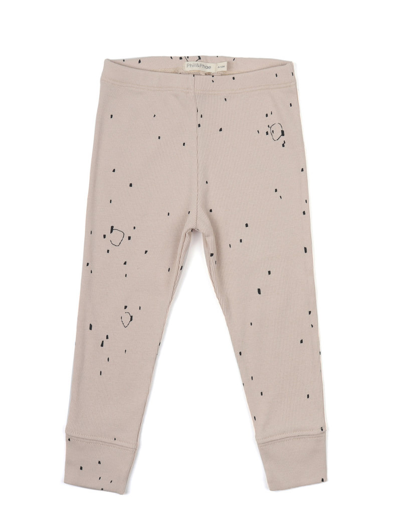 Phil & Phae Rib leggings AOP