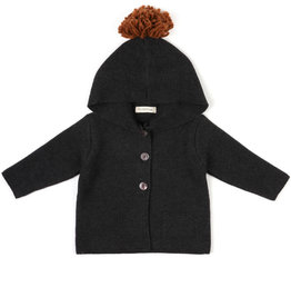 Phil & Phae Pompon baby knit cardigan