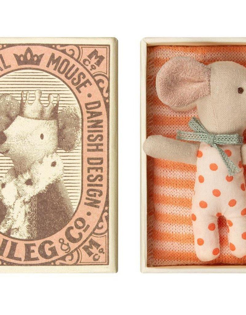 Maileg Baby mouse, sleepy/wakey in box - Girl