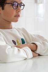 Piupiuchick Sweatshirt Ecru with 'old school' print kid