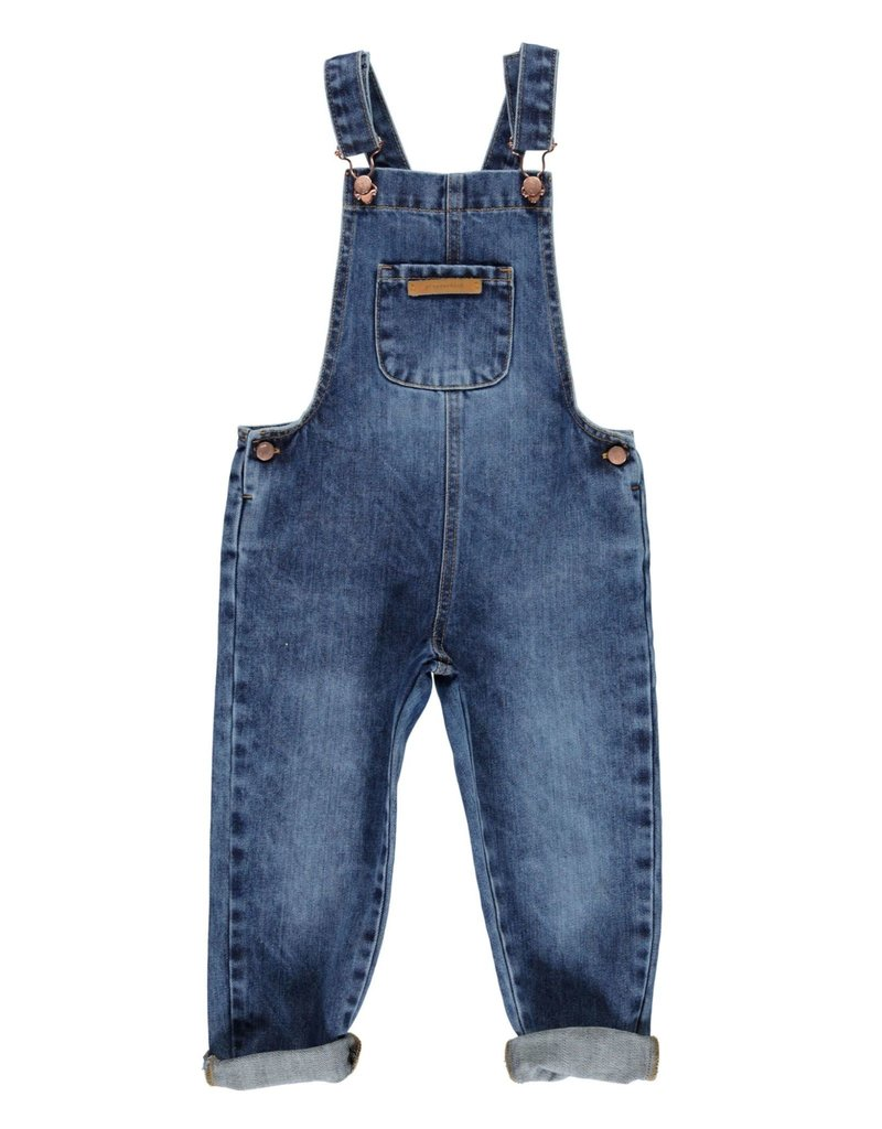 Piupiuchick Dungarees Washed blue denim jeans kid