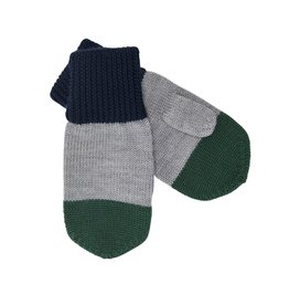 FUB Mittens navy/light grey/green