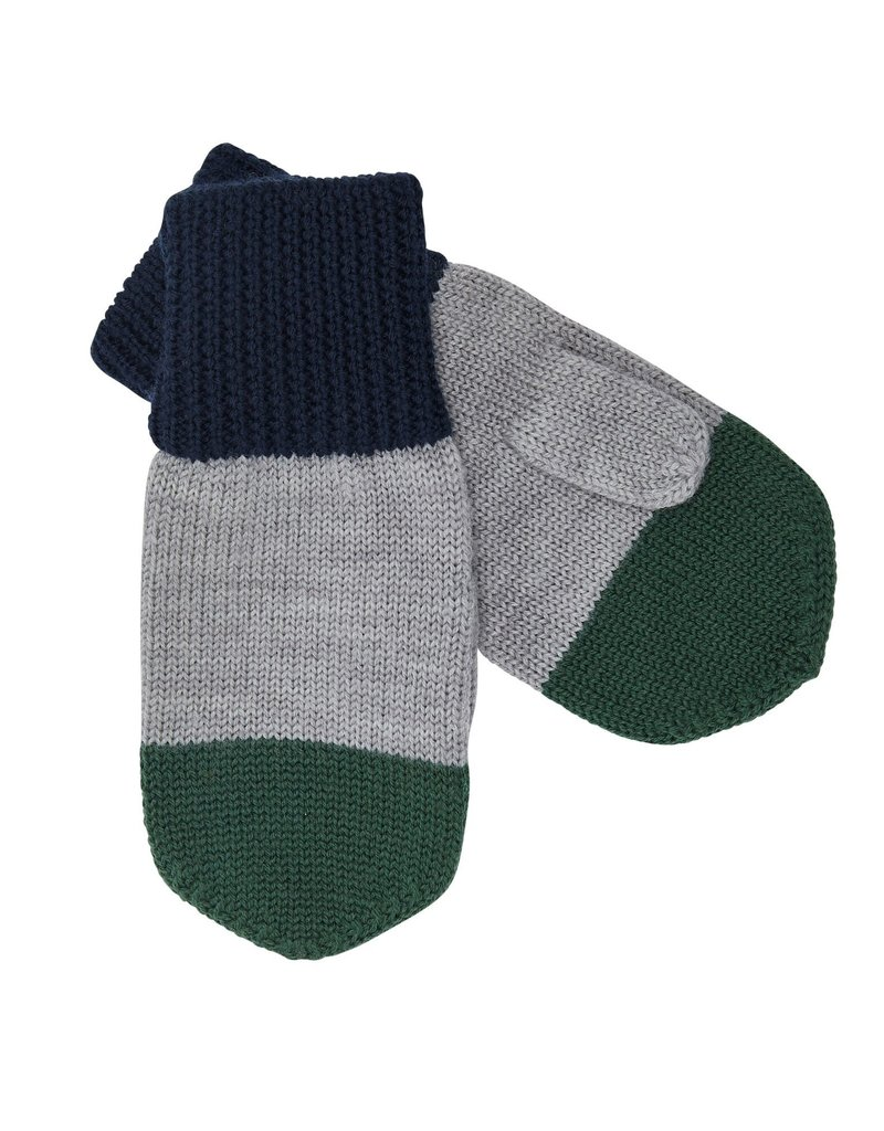 FUB Mittens navy/light grey/green