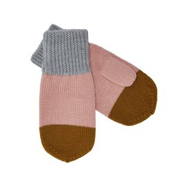 FUB Mittens light grey/blush/sienna