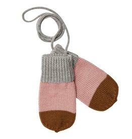 FUB Baby mittens light grey/blush/sienna