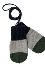 FUB Baby mittens navy/light grey/ green