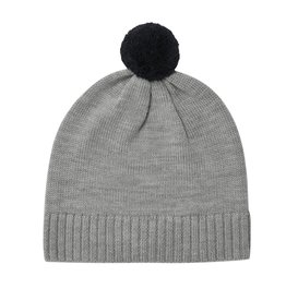 FUB Pompom Hat light grey