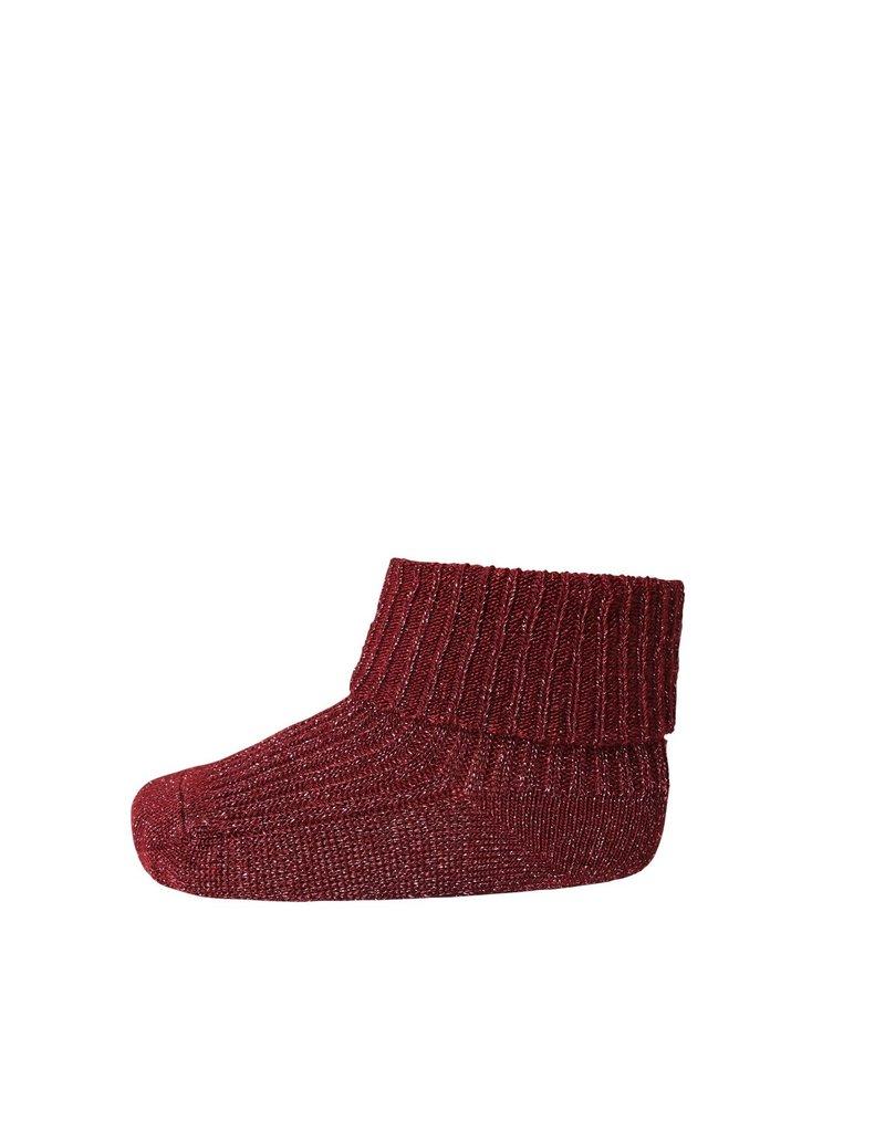 Mp. Denmark Ankle socks ida bordeaux glitter