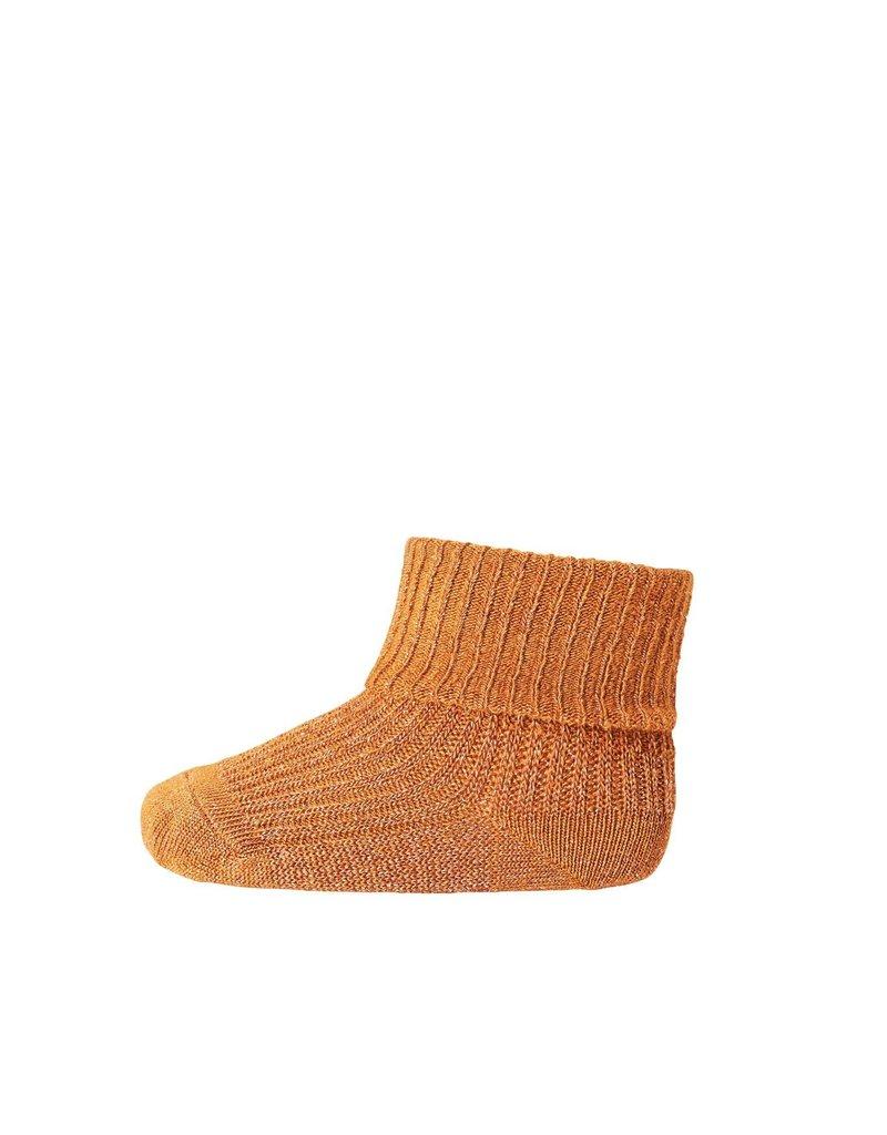 Mp. Denmark Ankle socks ida oker glitter