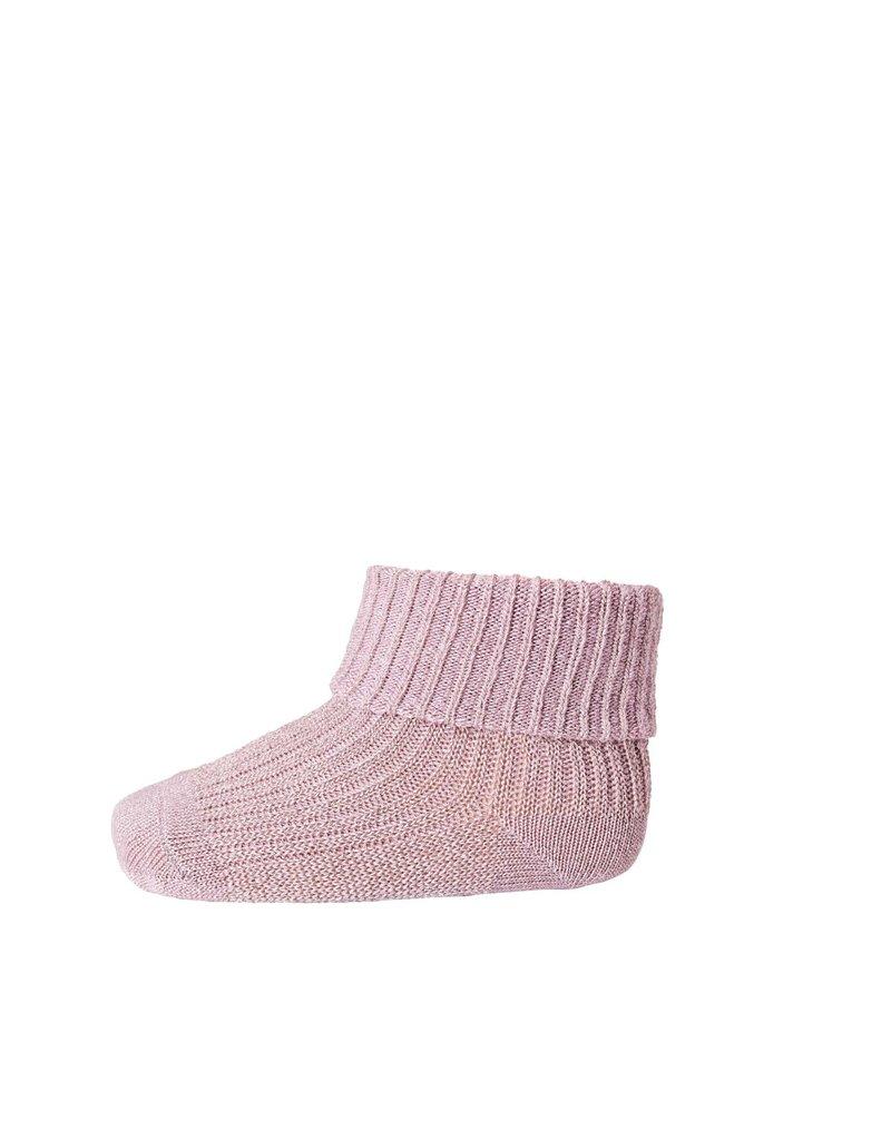 Mp. Denmark Ankle socks ida mauve glitter