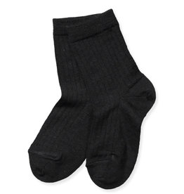 Mp. Denmark Ankle socks wool rib black