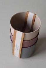 Cink Bamboo mug 3-pack, fog/beet/ocean