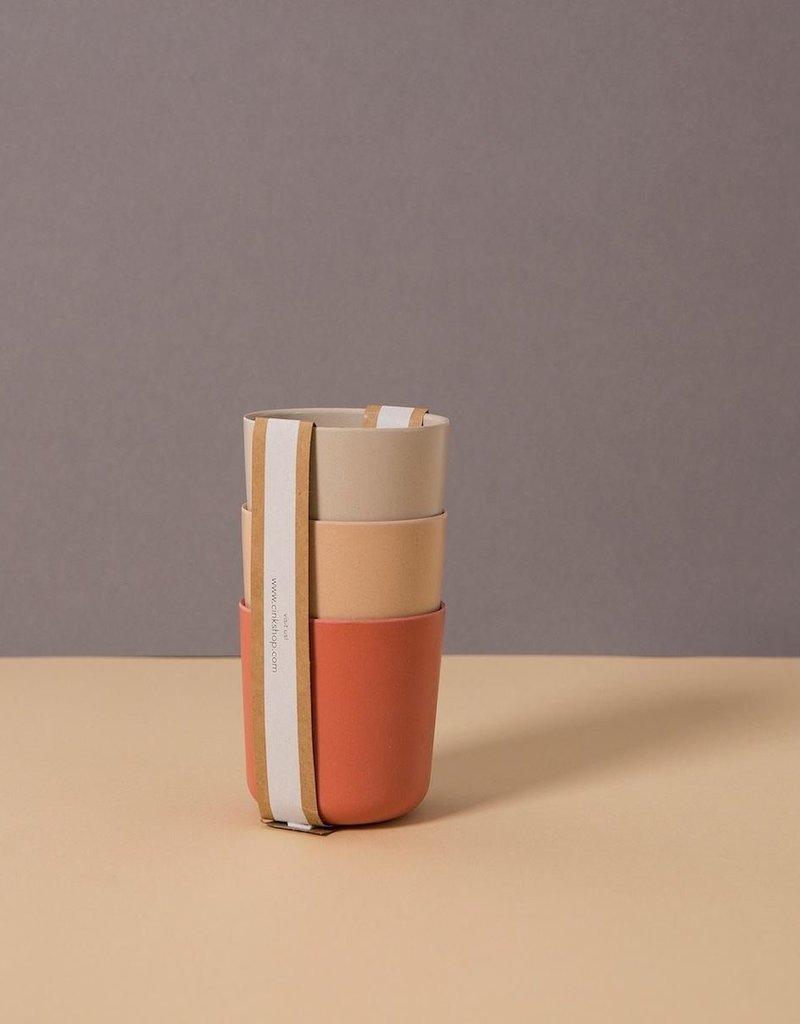 Cink Bamboo mug 3-pack, fog/rye/brick