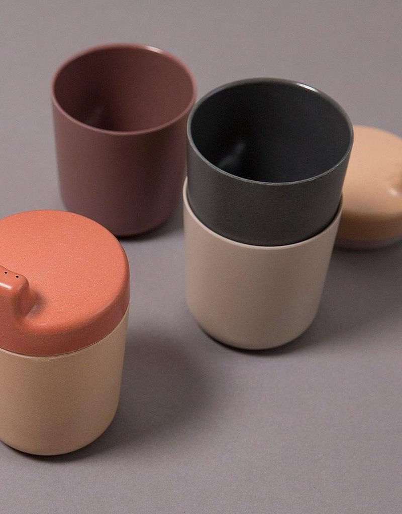 Cink Bamboo sippy cup lid, brick