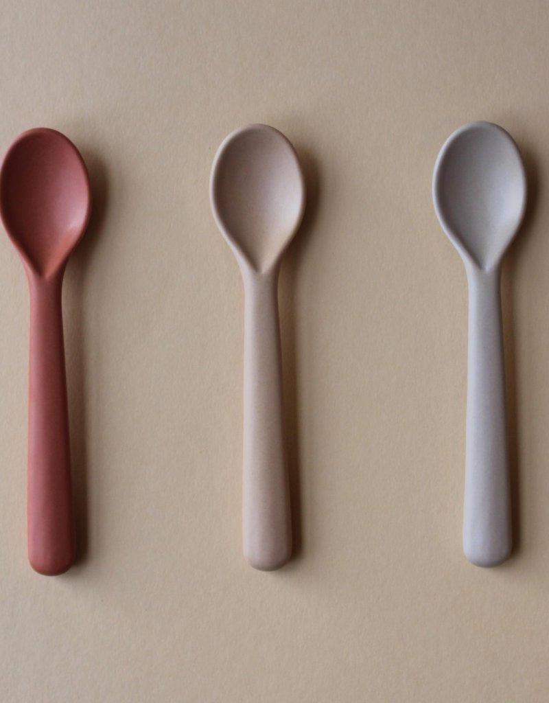Cink Bamboo toddler spoon 3-pack , fog/rye/brick