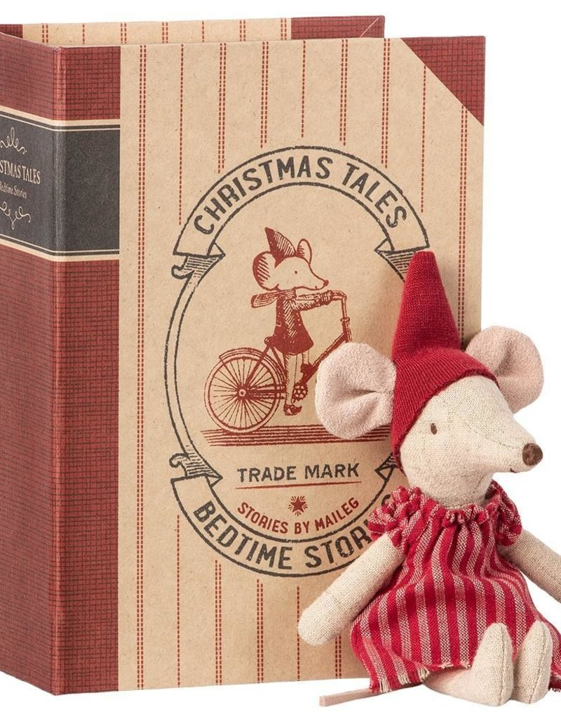 Maileg Christmas mouse in book, big sister