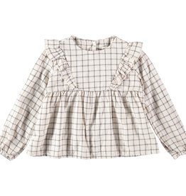 Búho. Julia check girl blouse