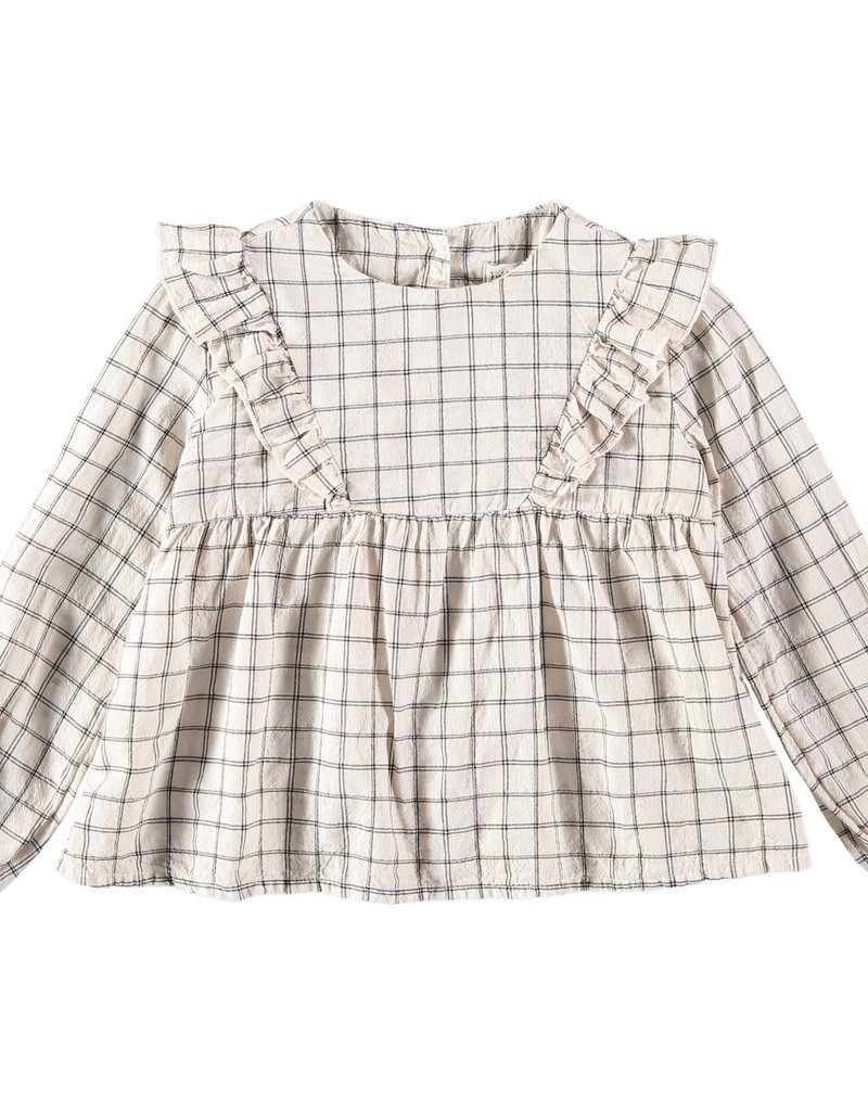 Búho. Julia check girl blouse