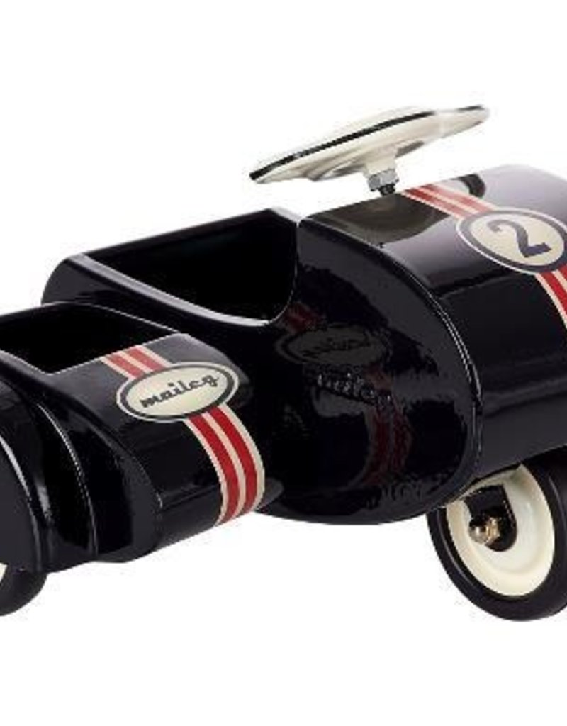 Maileg Black scooter w sidecar, metal