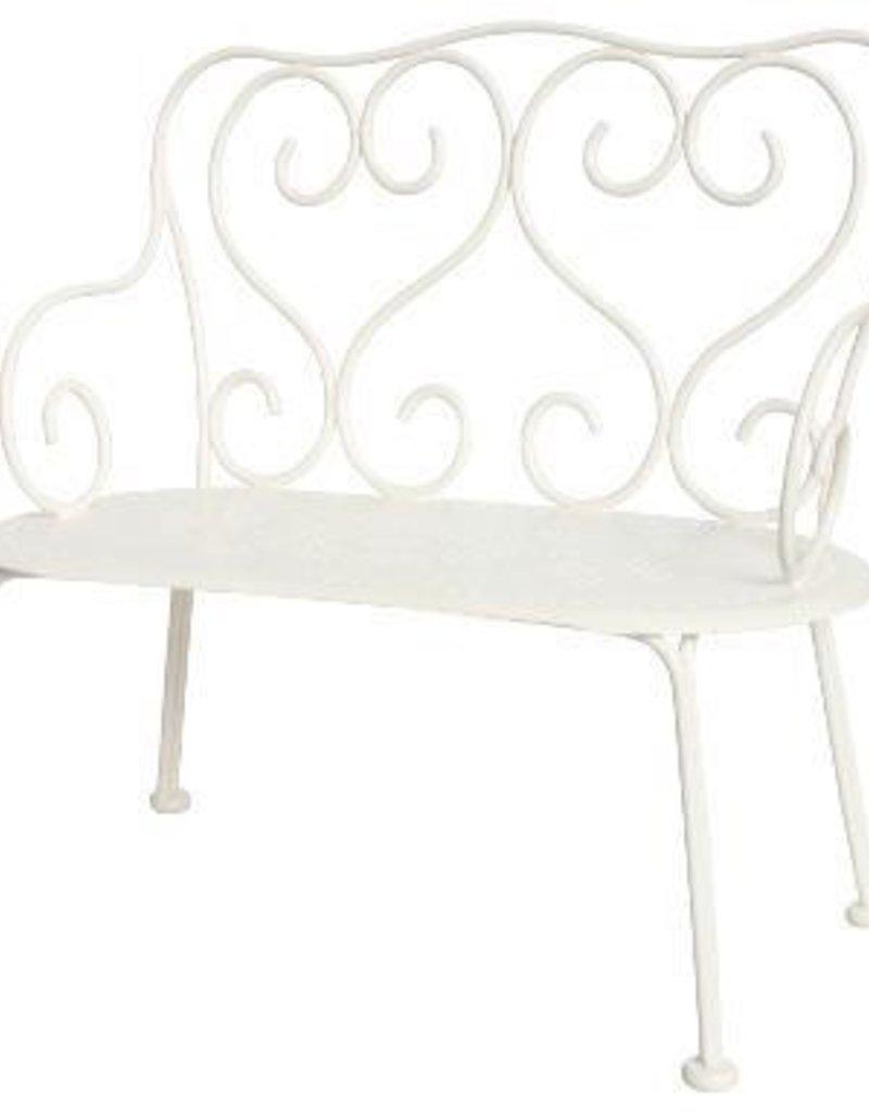 Maileg Romantic bench, off-white
