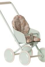 Maileg Stroller, micro - sky blue