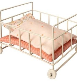 Maileg Metal baby cot, micro