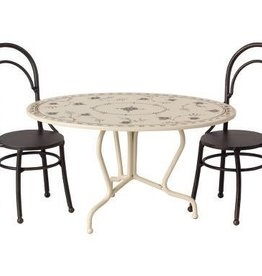 Maileg Dining table set, Mini anthracite