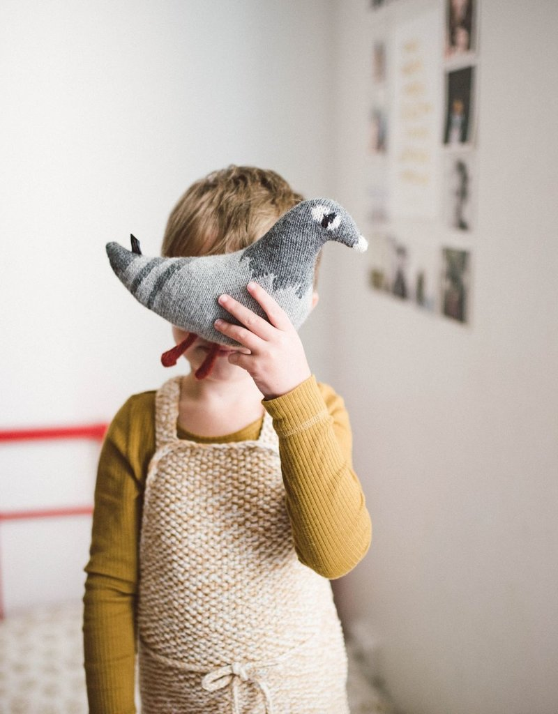 Main sauvage Pigeon soft toy, grey