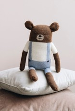 Main sauvage Big teddy soft toy, blue