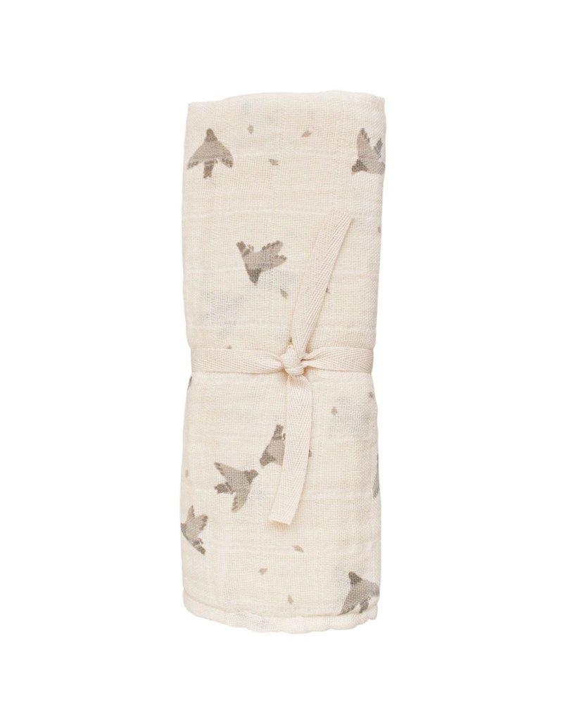 Main sauvage Muslin cloth, pigeons / 70 x 70 cm