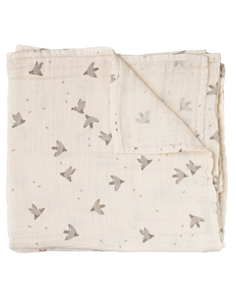 Main sauvage Swaddle, pigeons / 110 x 110 cm
