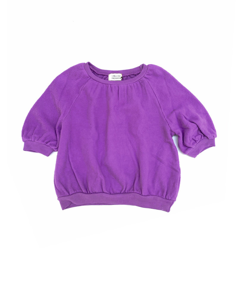 Long Live The Queen Terry sweater purple