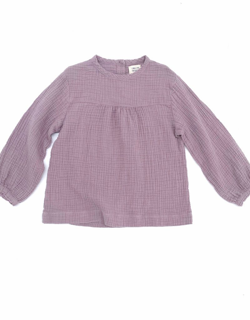 Long Live The Queen crinkle blouse lavender
