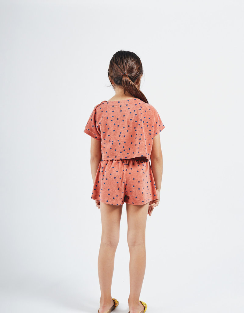 Bobo Choses Spots terry towel cropped sweatshirt
