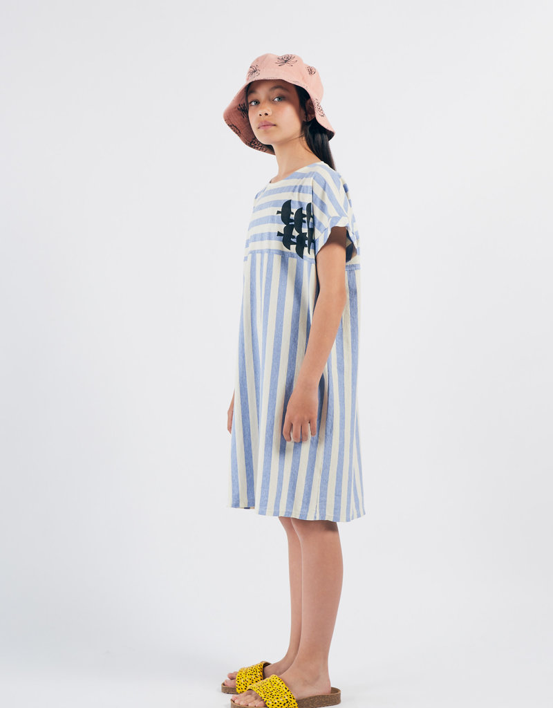 Bobo Choses Flying birds striped t-shirt dress