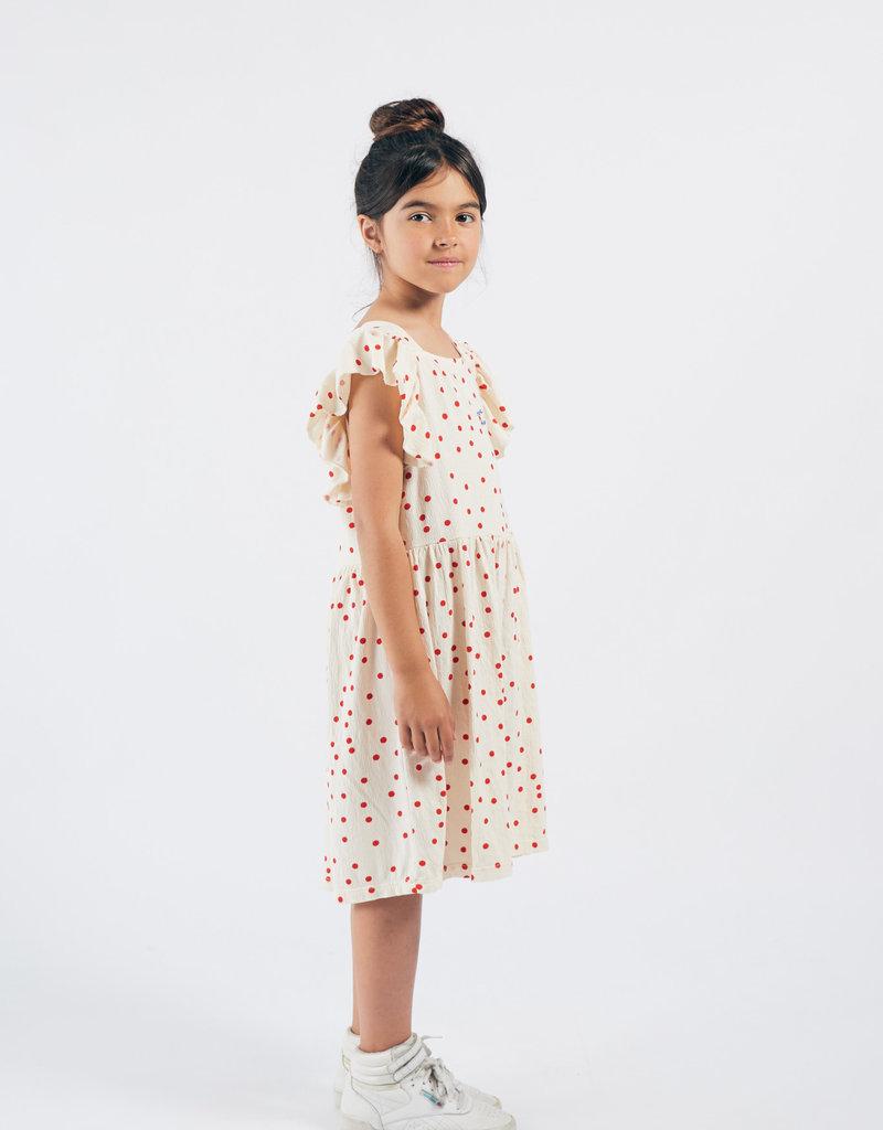 Bobo Choses Dots jersey ruffle dress