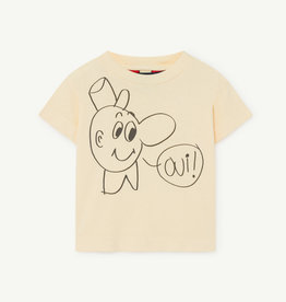 the Animals Observatory Rooster baby t-shirt - yellow oui